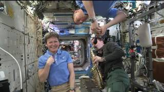 Space Station Crew Members Discuss Life in Space with Utah Students, Officials