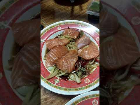 แซลมอนซาชิมิ-ส้มตำแซลมอน-ทาสแซ