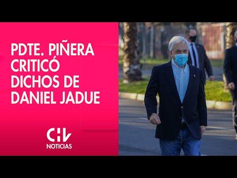 """Piñera emitió su voto y criticó dichos de Jadue: """"Reflejan una mala comprensión de la democracia"""""""