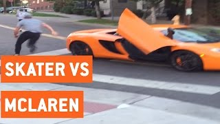 McLaren Windshield Smashed By Skateboarder