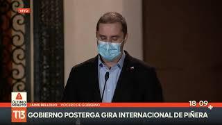Gobierno congela gira internacional de Piñera
