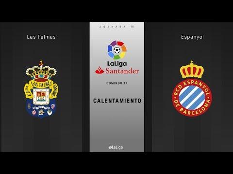 Calentamiento Las Palmas vs Espanyol