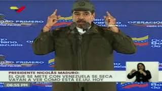 Maduro afirma que Iván Duque prepara nuevas incursiones armadas en Venezuela
