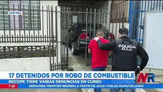 17 detenidos por robo de combustible en Cartago