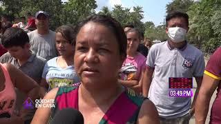 Pobladores protestan por falta de alimentos