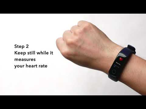 How to check current heart rate with HONOR Band 5?