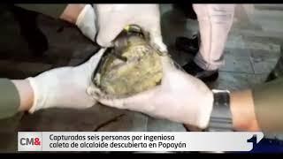 Capturadas seis personas por ingeniosa caleta de alcaloide descubierta en Popayán