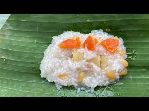 ห่อข้าวต้มมัด-ไส้ถั่วเหลืองไข่