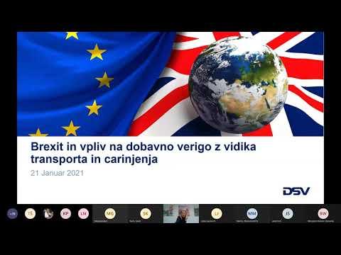 Brexit in vpliv na dobavno verigo z vidika transporta in carinjenja ter diskusija