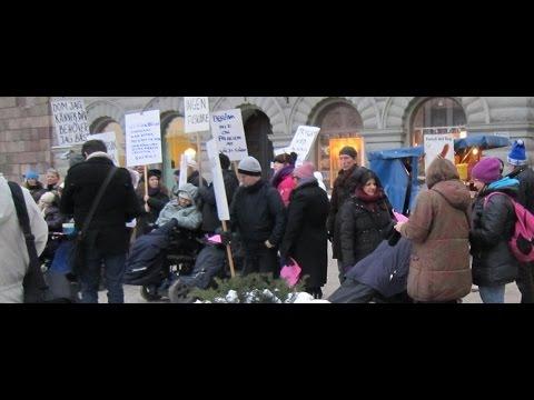 Demonstration för att rädda förhöjda timbeloppet
