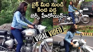 Jersey Fame Shraddha Srinath Fall Down From Royal Enfield - Latest Tollywood News | TFPC - TFPC