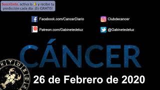 Horóscopo Diario - Cáncer - 26 de Febrero de 2020