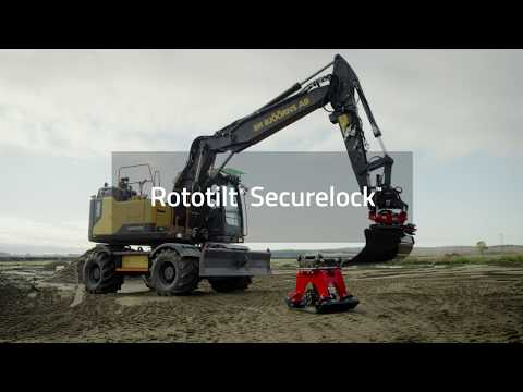 How to use SecureLock™ with Rototilt® tiltrotator and machine coupler