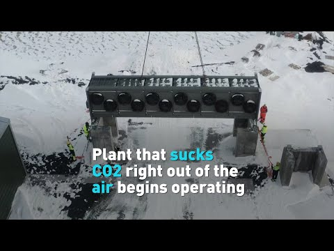 Iceland opens largest plant that sucks CO2 out of the air