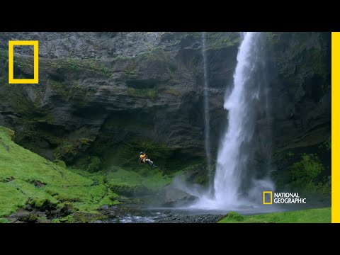 Keegan-Michael Key Descends a Waterfall  | Running Wild with Bear Grylls