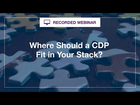 Webinar:  Where Should a CDP Fit in Your Stack