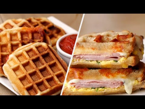 How To Make Savory Waffles 5 Ways