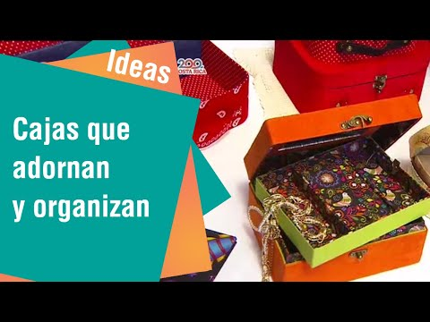 Cajas para organizar y decorar su hogar   Ideas