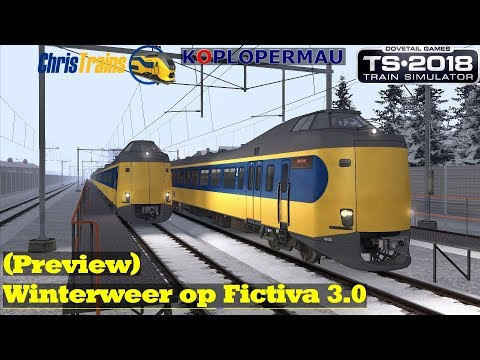 Winterweer op Fictiva 30 Preview  NS ICM Olympic  Train Simulator 2018