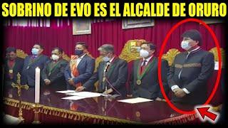 Evo participo de la posesión de su sobrino el nuevo Alcalde de Oruro