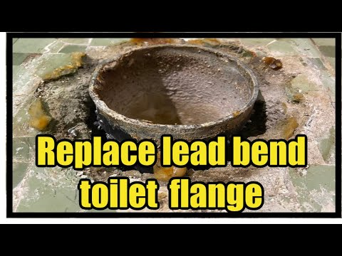 Replace Lead Bend Toilet Flange