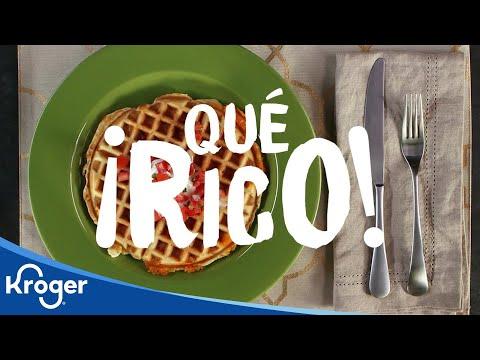 ¡Qué Rico! Waffles con Queso Mexicano
