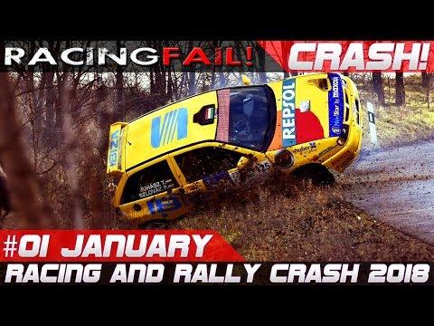 Racing and Rally Crash Compilation Week 1 January 2018 | RACINGFAIL