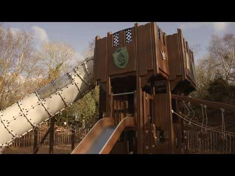 Dragon's Den playground, Ireland, walk through video
