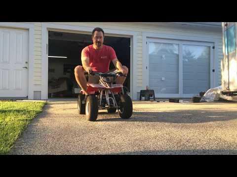 Ben ATV Throttle and Brake test