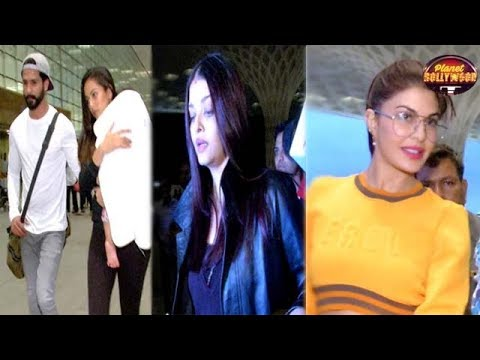 Aishwarya, Shahid, Jacqueline, Anushka & Others Spotted At The Airport – Bollywood News