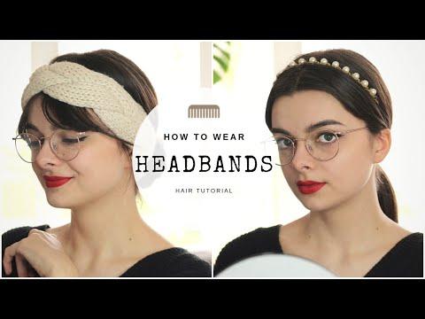 How To Wear Headbands 5 Ways | Hair Tutorial