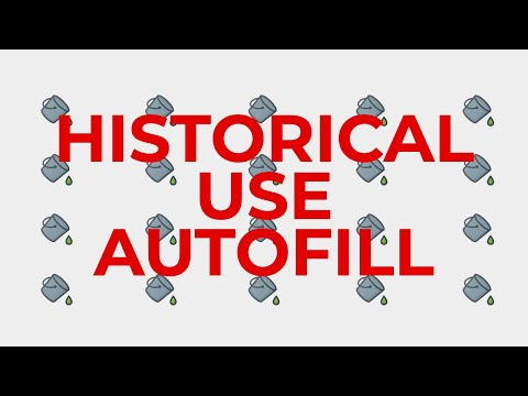 Autofill of Historical Use on the Valuation Worksheet