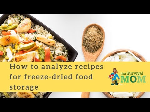 How to analyze recipes for freeze-dried food storage