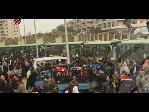 تهجير الدفعة الثانية  من أهالي حي الوعر الحمصي