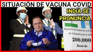 URGENTE GUATEMALA ENTREGA SIMBOLICA DE LA DONACION DE 200MIL VACUNAS CONTRA EL COVID INDIA A GUATE