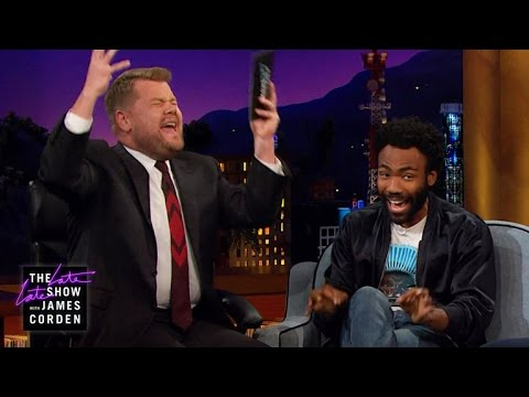 "Donald Glover i James Corden śpiewają ""Kiss From A Rose"""