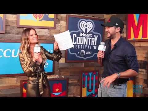 Amy Interviews Luke Bryan at our iHeart Country Festival 2018