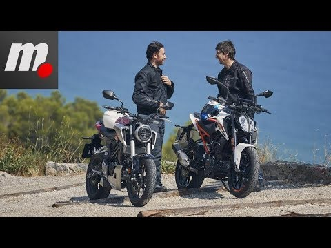 Comparativo Honda CB125R vs KTM 125 Duke | Prueba / Test / Review en español
