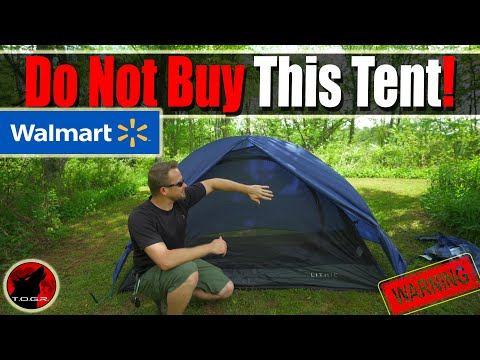 ⚠️WARNING - Walmart Lithic One Person Tent - Do Not Buy This Tent - ⚠️