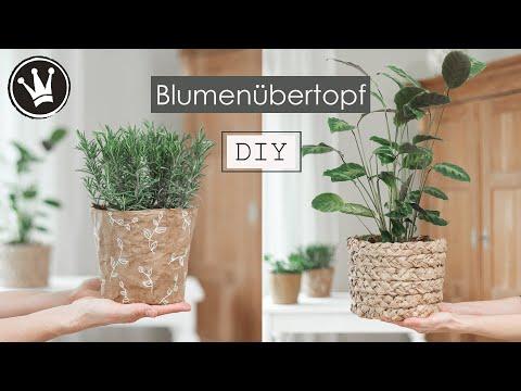 DIY: Blumentopf aus Papier | Basteln mit Papier | Trend: Natürlich schön –  | DekoideenReich