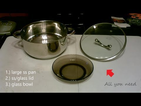 DIY Water Distilling! (SS pot+Glass Bowl) - Full Instr. cost $0 - cleans water fast! w/ppm rds.