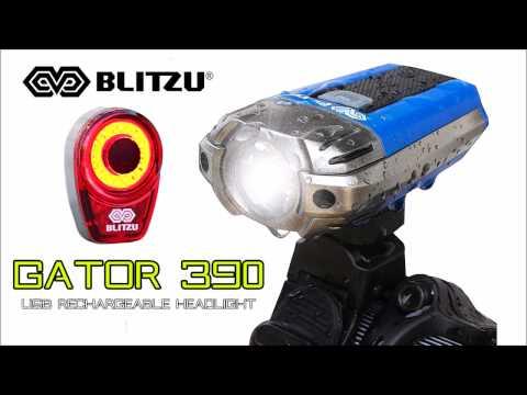 The Best USB Rechargeable Bike Light Set - Blitzu Gator 390 Headlight and Tail Light Combo