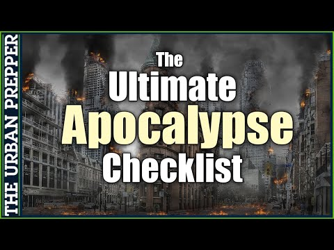 The ULTIMATE Apocalypse Checklist by TheBiologist | FREE Document
