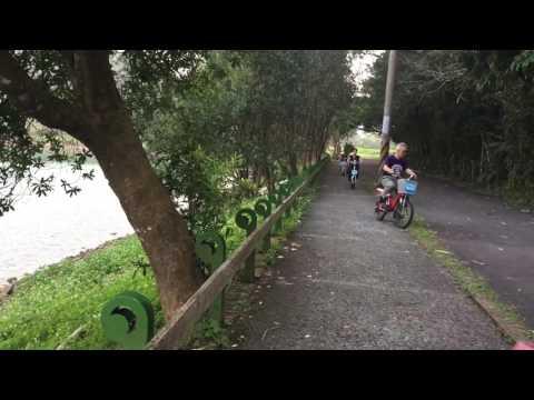 Video op YouTube: Sun Moon Lake, Taiwan: people riding sort of electric bikes