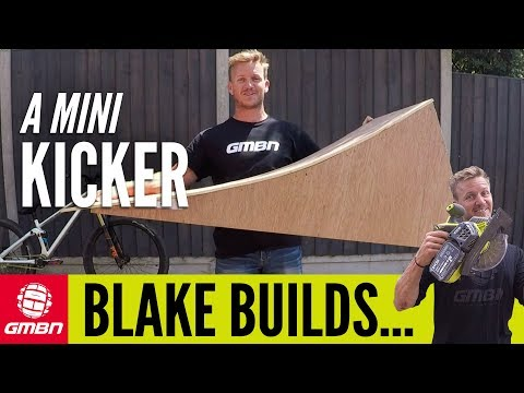 How To Build A Mountain Bike Mini Kicker | Blake Builds A Portable Wooden Jump