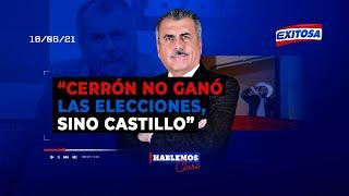 ????????Nicolás Lúcar a Vladimir Cerrón: Ni usted o su ideario ganaron las elecciones, ha sido Castillo