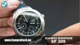 8df85aa171f8 Reloj Casio Edifice EF 305 - CompraFacil.mx - YouTube