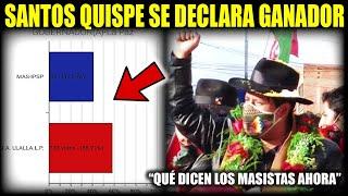 Santos Quispe de JALLALLA opositor al MAS se declara ganador Segunda Vuelta-Gobernación de La Paz