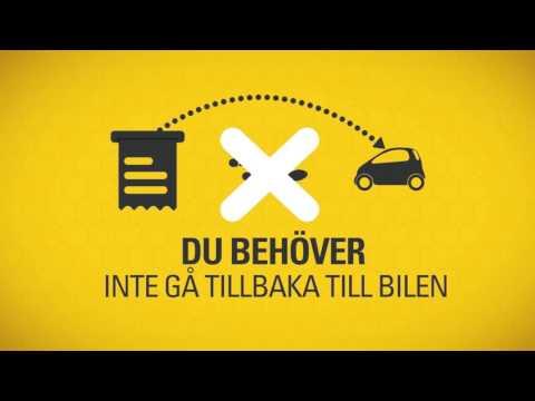 Biljettlös parkering genom reg.nummer-inmatning - svenska