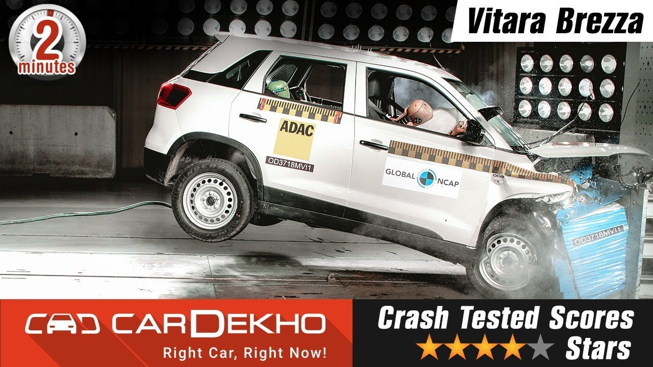 மாருதி சுசூகி விட்டாரா பிரீஸ்ஸா crash test வீடியோ | all details #in2mins